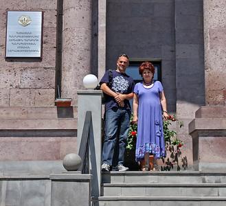 Me and the Ambassador of Nagorno-Karabakh in Yerevan, Armenia, 2011