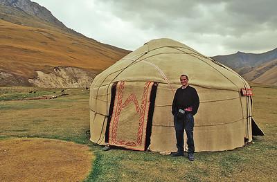 Self portrait, Tash Rabat, Kyrgyzstan, 2002