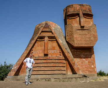 Self portraits at Stepanakert, Nagorno-Karabakh, 2011