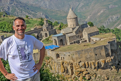 Self portrait at Tatev monastery, Armenia, 2011