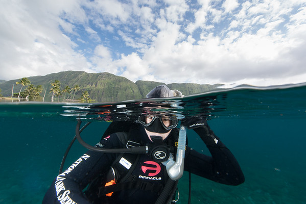 Diving with NPS to create 3D models of corals in Kalaupapa, HI.