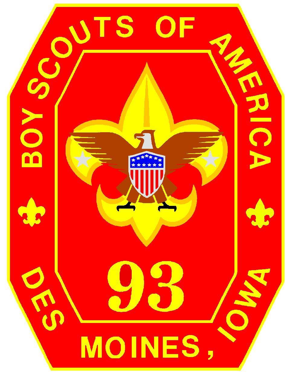 Troop 93 BSA is chartered by:  Douglas Avenue Presbyterian Church.   4601 Douglas Des Moines, IA  50310  http://www.troop93.org