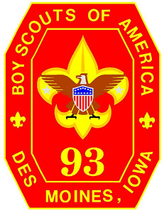 Troop 93 BSA is chartered by:  Douglas Avenue Presbyterian Church.   4601 Douglas Des Moines, IA  50310  http://www.troop93.org
