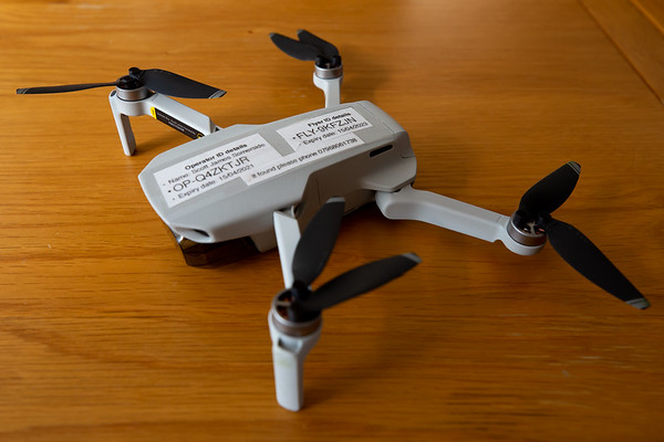 This is the baby of the two drones, The 'Mini'  weighing in at only 249g this little bird can go anywhere. It has a camera capable of 12 MB images and video at 2.7K and a top speed of 30mph.