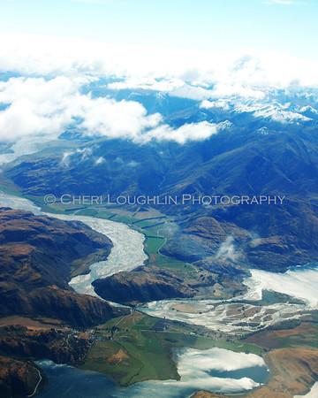 NZ Landscape - Airplane Window 8x10 crop