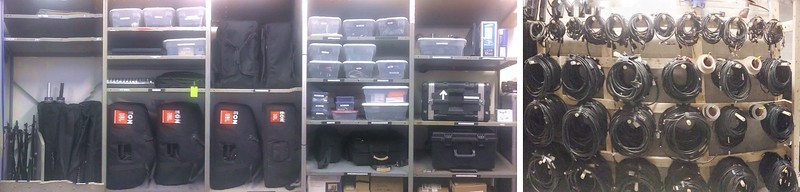 Samples of warehouse and storage room organization.