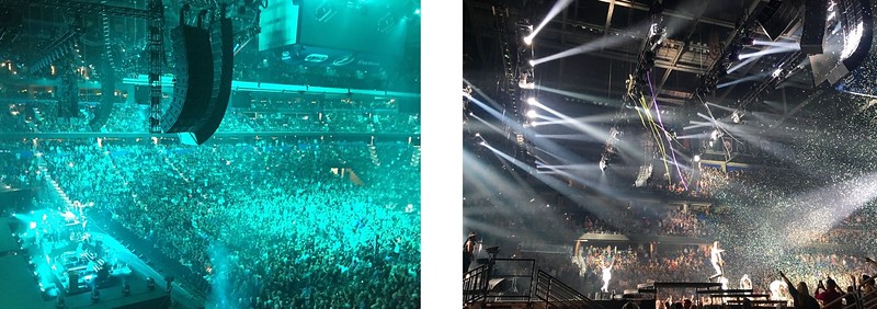 Concerts in Amalie Arena, downtown Tampa, FL.