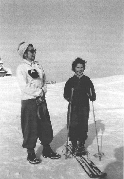 Skiing with Monika