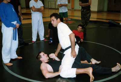 Royce Gracie on top of me