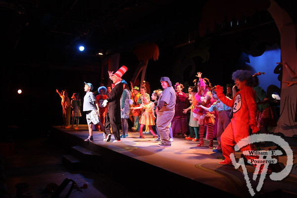 """REVIEW The cast of """"Seussical"""" at Harwich Junior Theatre   At HJT, Horton hears an encore If you goWHAT: """"Seussical the Musical"""" WHERE: Harwich Jr. Theatre, 105 Division St., West Harwich WHEN: Friday and Saturday, 7:30 p.m., Sunday 4 p.m., through Jan. 6 TICKETS: $25 general admission and $15 youth under 21 BOX OFFICE: 508-432-2002  Harwich Oracle DECEMBER 12, 2012page 15"""