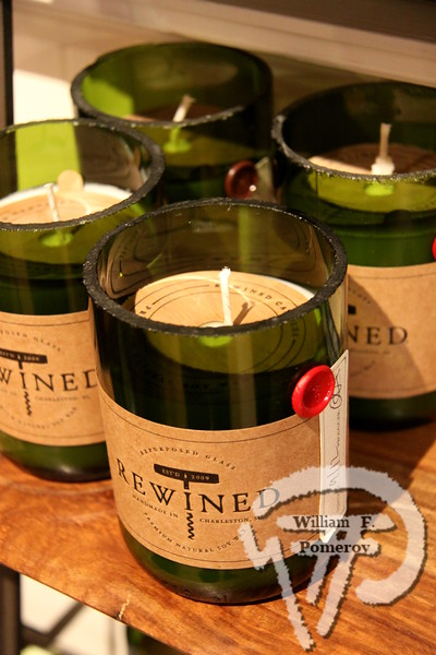 Eco-friendly gifts to give Rewind candles at Adlumia in Orleans are made from soy and essential oils,  made in recycled wine bottle bottoms.  NOVEMBER 2012 Great Holiday Gift Ideas •  Supplement to misc. GateHouse Media publications  page 4