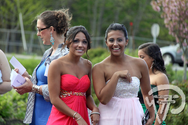 ALL DRESSED UP Julicia Robles and Janaina Desouza are ready for their close-up  at the Dennis-Yarmouth Regional High School prom last weekend.  See more photos online  at Dennis or Yarmouth  The Register MAY 23, 2013page 8