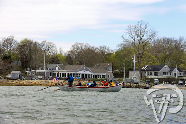 Under skipper Dean Skiff, Nauset Sea Scouts Ship 72 practices teamwork while passing in front of Orleans Yacht Club Saturday.  Sea Scouts gearing up  WickedLocal.com/CapeCod May 3, 2011COMMUNITY NEWSPAPER COMPANY