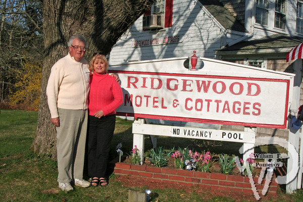 Stan and Agie Knowles, owners of Ridgewood Motel & Cottages,where scenes from a movie were filmed last weekend. Indie film features Orleans landmark photo 1 of 4 WickedLocal.com/CapeCod May 5, 2009COMMUNITY NEWSPAPER COMPANY