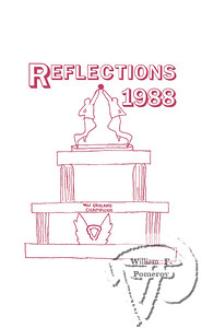 Top Entry Obtained in Yearbook Cover ContestSt. Pius X Elementary  Reflections APRIL 10, 1988cover