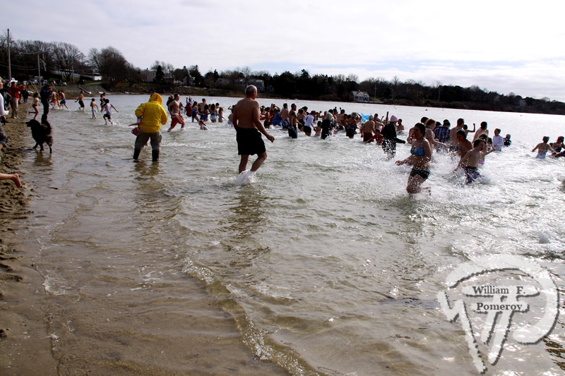 Chilly dipThe third annual April Fools Plunge last Thursday at Oyster Pond, organized by Chatham Permanent Firefighters Association 4717,raised money for Emily Coughlin, a 4 year-old who has cancer. The Cape Codder APRIL 9, 2010page 17