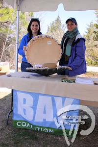Colleen Hamilton plus Gracie Mullen-Thompson of Commonwealth Corps at Buzzards Bay Coalition.