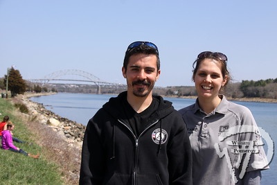 Canal Clean-Up program specialist at AmeriCorps Cape Cod, Mike Sousa plus Elisa Carey, park ranger from US Army Corps of Engineers.