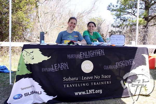 Tracy Howard next to Kate Bullock, each from Subaru | Leave No Trace traveling trainers.