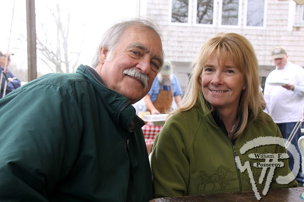 George Babcock of Yarmouthport  along with Liz Argo from Orleans.