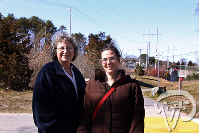 Beth Silver of Eastham  along with Heather Pilchard from Wellfleet. SEEN ON SCENE:  Along the  Cape Cod Rail Trail Along the Cape Cod Rail Trail mixed with warmer weather  this past Saturday heightened curiosity for some to explore  from Brewster to Wellfleet's town line.   7 — 12  WickedLocal.com/CapeCod April 1, 2013 COMMUNITY NEWSPAPER COMPANY