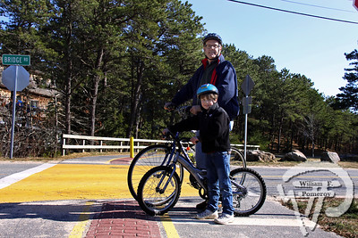Eastham father-son tandem  of Al and Almond Nickerson. SEEN ON SCENE:  Along the  Cape Cod Rail Trail Along the Cape Cod Rail Trail mixed with warmer weather  this past Saturday heightened curiosity for some to explore  from Brewster to Wellfleet's town line.   3 — 12  WickedLocal.com/CapeCod April 1, 2013 COMMUNITY NEWSPAPER COMPANY