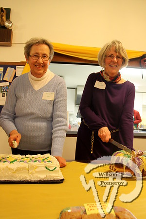 Mary Ann Ryer  alongside Pat Sarantis. SEEN ON SCENE:  Mardi Gras Party  The Chatham Harwich Newcomers Club defied the weather on Sunday, February 10,  and held a Mardi Gras Party at The Christ Episcopal Church in Harwich Port.  Great fun  was had by all as they shared their recent experiences with super storm Nemo.  Chatham  Harwich Newcomers established in 1978, has been a haven for folks in the two towns  to expand their network of social friends and gather more than 20 individual activities.   The Club currently has 450 members and lives by the motto:  We Volunteer - We Contribute  - We Have Fun.  See us on the web at  Chatham-Harwich Newcomers Club   7 / 13   WickedLocal.com/CapeCod February 13, 2013 COMMUNITY NEWSPAPER COMPANY