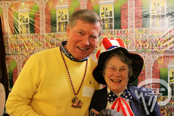 Rich Clifford along with Eve Dalmolen  from Chatham. SEEN ON SCENE:  Mardi Gras Party  The Chatham Harwich Newcomers Club defied the weather on Sunday, February 10,  and held a Mardi Gras Party at The Christ Episcopal Church in Harwich Port.  Great fun  was had by all as they shared their recent experiences with super storm Nemo.  Chatham  Harwich Newcomers established in 1978, has been a haven for folks in the two towns  to expand their network of social friends and gather more than 20 individual activities.   The Club currently has 450 members and lives by the motto:  We Volunteer - We Contribute  - We Have Fun.  See us on the web at  Chatham-Harwich Newcomers Club   6 / 13   WickedLocal.com/CapeCod February 13, 2013 COMMUNITY NEWSPAPER COMPANY