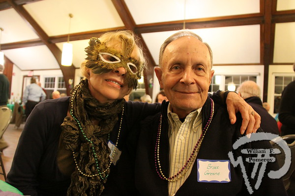 Jacqueline  and Bruce Greene. SEEN ON SCENE:  Mardi Gras Party  The Chatham Harwich Newcomers Club defied the weather on Sunday, February 10,  and held a Mardi Gras Party at The Christ Episcopal Church in Harwich Port.  Great fun  was had by all as they shared their recent experiences with super storm Nemo.  Chatham  Harwich Newcomers established in 1978, has been a haven for folks in the two towns  to expand their network of social friends and gather more than 20 individual activities.   The Club currently has 450 members and lives by the motto:  We Volunteer - We Contribute  - We Have Fun.  See us on the web at  Chatham-Harwich Newcomers Club   13 / 13   WickedLocal.com/CapeCod February 13, 2013 COMMUNITY NEWSPAPER COMPANY
