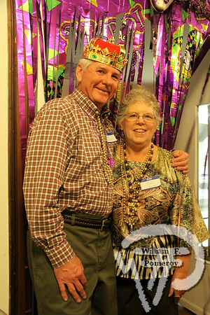 """Dan """"The King""""  and Pattie Tworek. SEEN ON SCENE:  Mardi Gras Party  The Chatham Harwich Newcomers Club defied the weather on Sunday, February 10,  and held a Mardi Gras Party at The Christ Episcopal Church in Harwich Port.  Great fun  was had by all as they shared their recent experiences with super storm Nemo.  Chatham  Harwich Newcomers established in 1978, has been a haven for folks in the two towns  to expand their network of social friends and gather more than 20 individual activities.   The Club currently has 450 members and lives by the motto:  We Volunteer - We Contribute  - We Have Fun.  See us on the web at  Chatham-Harwich Newcomers Club   9 / 13   WickedLocal.com/CapeCod February 13, 2013 COMMUNITY NEWSPAPER COMPANY"""