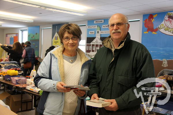 Karen and George Thurber  of Brewster. SEEN ON SCENE:  Nauset Greenhouse Project  The Nauset community was on hand for a community yard sale  to benefit the Greenhouse Project.  6 of 9   WickedLocal.com/CapeCod January 29, 2013 COMMUNITY NEWSPAPER COMPANY