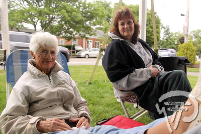 Martha Curley of Osterville reclined next to Terri Coffin from Mashpee.