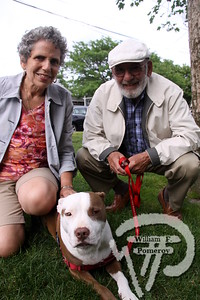 Bobbi plus Ron joined Marry the therapy dog.