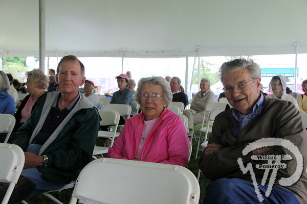 Jerry Brodeur of Marston Mills next to Barbara and Warren Hansen.