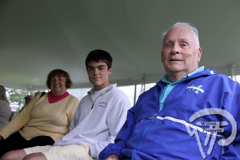 Janet and Jack Donahue of Osterville bookend their grandson Jack Kerwin.