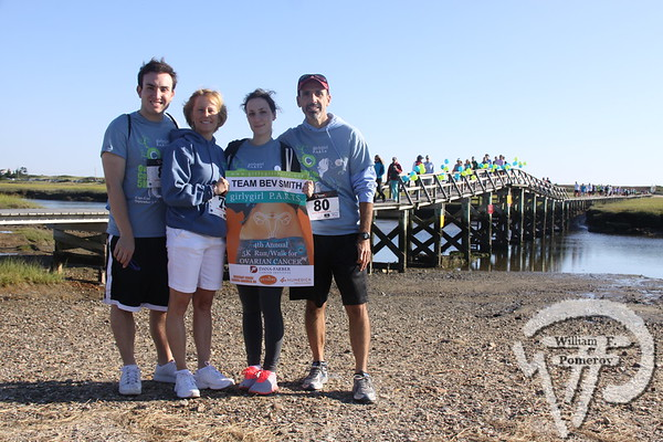 Team  Bev Smith.  SEEN ON SCENE:  girlygirl P.A.R.T.S. fourth annual 5K Run/Walk for Ovarian Cancer girlygirl P.A.R.T.S. fourth annual 5K Run/Walk for Ovarian Cancer attracted over 900 participants to the Sandwich Boardwalk at Town Neck Beach this past Saturday. To learn more and/or donate to this cause, please visit them on-line at girlygirlParts.net Pre-screening Awareness Required To Silence... Ovarian Cancer brought together love, hugs and exercise!   11 of 25   WickedLocal.com/CapeCod September 9, 2013 COMMUNITY NEWSPAPER COMPANY