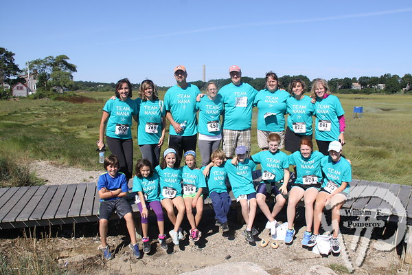 Team  Nana.  SEEN ON SCENE:  girlygirl P.A.R.T.S. fourth annual 5K Run/Walk for Ovarian Cancer girlygirl P.A.R.T.S. fourth annual 5K Run/Walk for Ovarian Cancer attracted over 900 participants to the Sandwich Boardwalk at Town Neck Beach this past Saturday. To learn more and/or donate to this cause, please visit them on-line at girlygirlParts.net Pre-screening Awareness Required To Silence... Ovarian Cancer brought together love, hugs and exercise!   7 of 25   WickedLocal.com/CapeCod September 9, 2013 COMMUNITY NEWSPAPER COMPANY