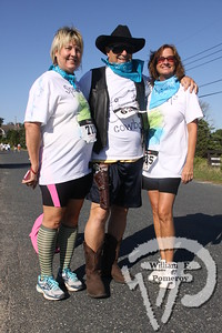 Linda Ricci plus Lisa Souve saddle up  with Butch Burnell.  SEEN ON SCENE:  girlygirl P.A.R.T.S. fourth annual 5K Run/Walk for Ovarian Cancer girlygirl P.A.R.T.S. fourth annual 5K Run/Walk for Ovarian Cancer attracted over 900 participants to the Sandwich Boardwalk at Town Neck Beach this past Saturday. To learn more and/or donate to this cause, please visit them on-line at girlygirlParts.net Pre-screening Awareness Required To Silence... Ovarian Cancer brought together love, hugs and exercise!   9 of 25   WickedLocal.com/CapeCod September 9, 2013 COMMUNITY NEWSPAPER COMPANY