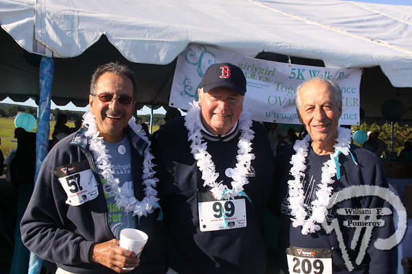 John Margardo, Peter Lawrence along with Tony Ross  from Southport on Cape Cod.  SEEN ON SCENE:  girlygirl P.A.R.T.S. fourth annual 5K Run/Walk for Ovarian Cancer girlygirl P.A.R.T.S. fourth annual 5K Run/Walk for Ovarian Cancer attracted over 900 participants to the Sandwich Boardwalk at Town Neck Beach this past Saturday. To learn more and/or donate to this cause, please visit them on-line at girlygirlParts.net Pre-screening Awareness Required To Silence... Ovarian Cancer brought together love, hugs and exercise!   5 of 25   WickedLocal.com/CapeCod September 9, 2013 COMMUNITY NEWSPAPER COMPANY