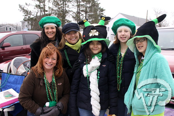 Members to Kelley, Walsh and Pinho families  from the Dennis-Yarmouth area. SEEN ON SCENE:  Cape Cod St. Patrick's Day Parade  Large crowds were drawn along both sides of Route 28 this past Saturday  in West Dennis spilling into South Yarmouth, all to help celebrate  the 8th annual Cape Cod St. Patrick's Day Parade.   14 of 21  WickedLocal.com/CapeCod March 11, 2013 COMMUNITY NEWSPAPER COMPANY