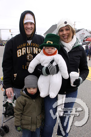 The Moore family  of Hyannis. SEEN ON SCENE:  Cape Cod St. Patrick's Day Parade  Large crowds were drawn along both sides of Route 28 this past Saturday  in West Dennis spilling into South Yarmouth, all to help celebrate  the 8th annual Cape Cod St. Patrick's Day Parade.   6 of 21  WickedLocal.com/CapeCod March 11, 2013 COMMUNITY NEWSPAPER COMPANY