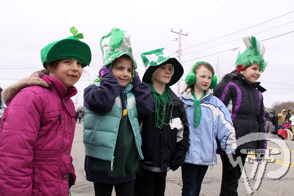 Cousins from Holliston, Mass. are  Tomacelli and Shutt family. SEEN ON SCENE:  Cape Cod St. Patrick's Day Parade  Large crowds were drawn along both sides of Route 28 this past Saturday  in West Dennis spilling into South Yarmouth, all to help celebrate  the 8th annual Cape Cod St. Patrick's Day Parade.   20 of 21  WickedLocal.com/CapeCod March 11, 2013 COMMUNITY NEWSPAPER COMPANY