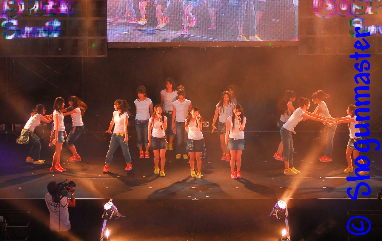 SKE 48 doing a live performance during an intermission at the World Cosplay Summit - August 1st, 2010