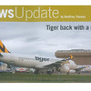 Tiger airways A320 parked in front of John Holland hangers published in Australian Aviation Magazine, September 2011, No. 286.