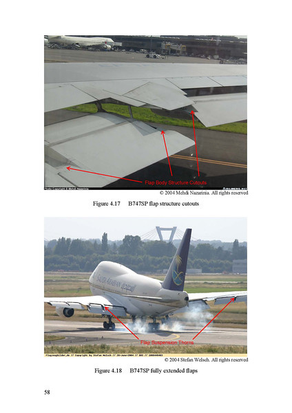 """Figure 4.17 is mine. This was used in a Master Degree thesis with the title of """"Integrated Trailing Edge Flap Track Mechanism for Commercial Aircraft"""", by: Sven P. Schoensleben Winter Term 2005/06."""