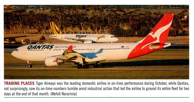 Published in Australian Aviation Magazine, January/Febryary 2012, No. 290. Note there is a typo in my name.