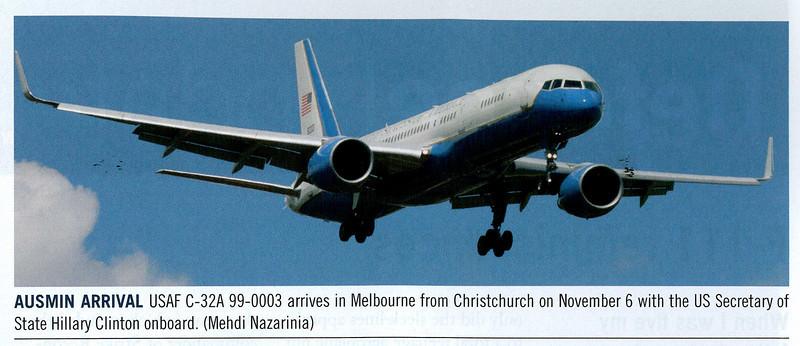 USAF 99-0003 published in Australian Aviation Magazine, January/February 2011, No. 279