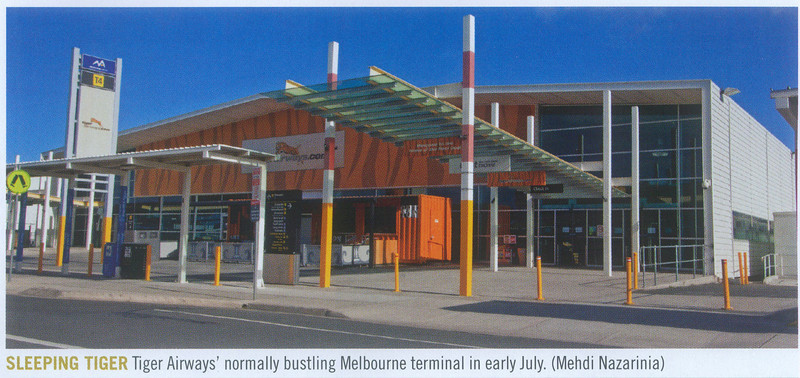 Empty Tiger Terminal published in Australian Aviation Magazine, August 2011, No. 285.