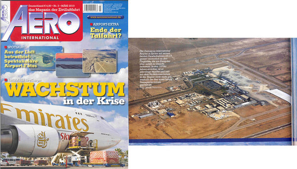 Damascus airport overview, published in the AERO International magazine in German! March 2010