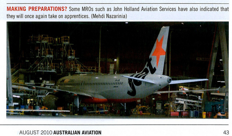 Published in Australian Aviation Magazine, August 2010, No. 274